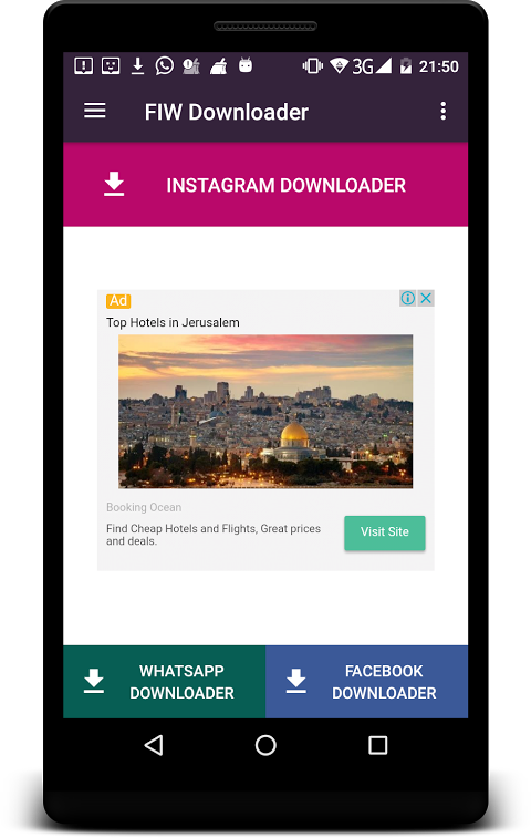 WIF Downloader for Whatsapp ,Instagram ,Facebook screenshot 1
