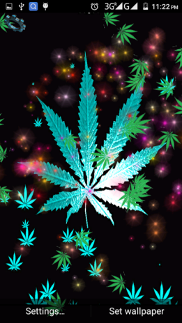 Weed Rasta Live Wallpaper Screenshot 1