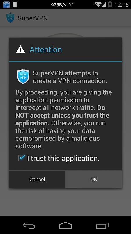 SuperVPN Free VPN Client screenshot 2