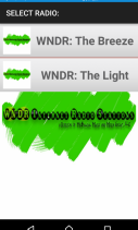 WNDR Internet Radio Stations Screenshot