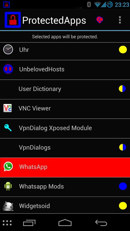 ProtectedApps screenshot 1