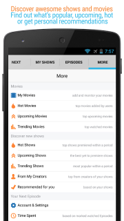 Next Episode - Track TV Shows and Movies you watch screenshot 8