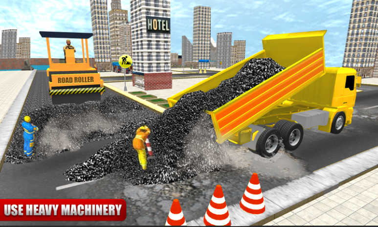 road construction game