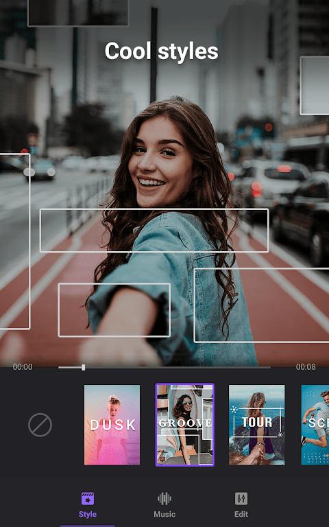 Video Maker: Editor de Vídeo com Fotos e Música screenshot 1