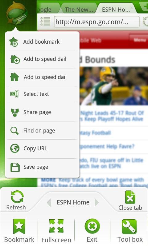 Dolphin Browser® Mini screenshot 1
