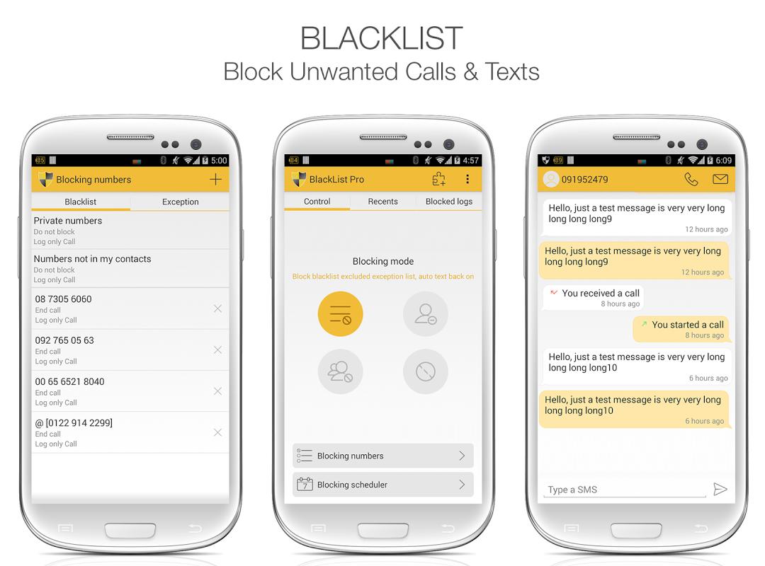 BlackList Pro screenshot 1