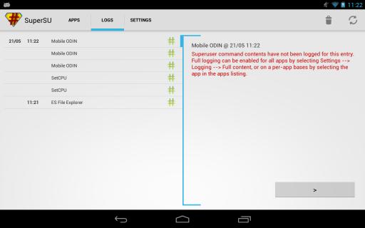 SuperSU Pro screenshot 2