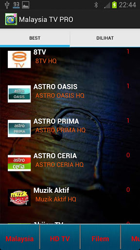 Malaysia TV Pro (200 Channels) Screenshot