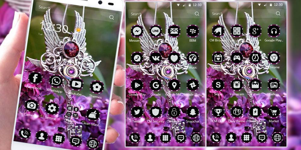 Purple Diamond. Theme for CM Launcher screenshot 2