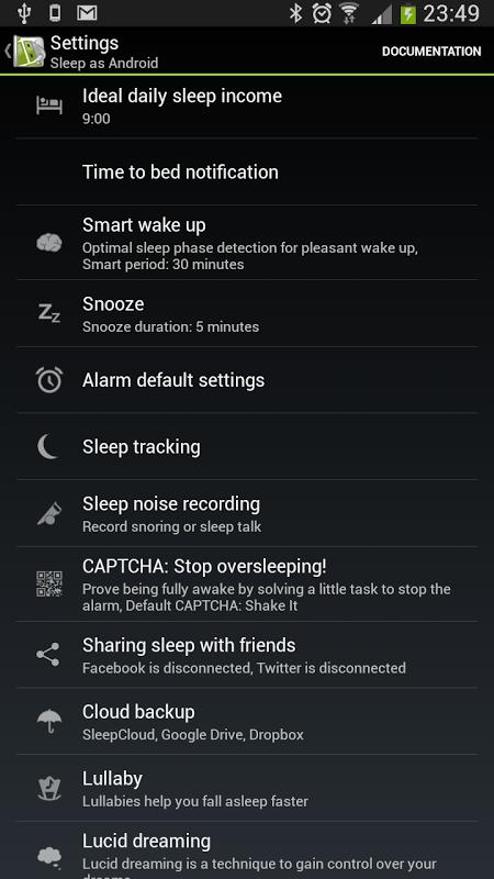 Sleep as Android screenshot 13