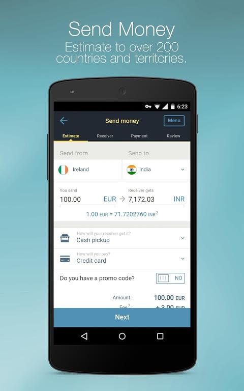 Western Union for Belgium, Luxembourg, Switzerland screenshot 1