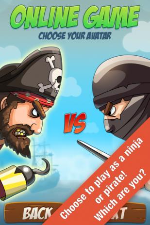 играть в ниндзя против пиратов