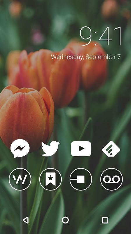 Monoic Monotone White Icon Pack for Nova Launcher screenshot 5