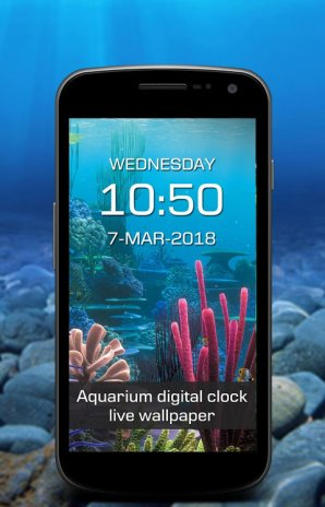 Aquarium digital clock live wallpaper 1 2 Download APK for