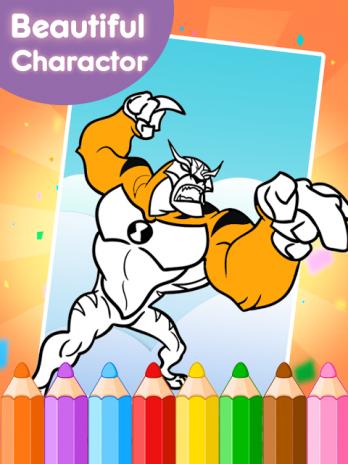 Coloring Book Games For Ban 10 Screenshot 4