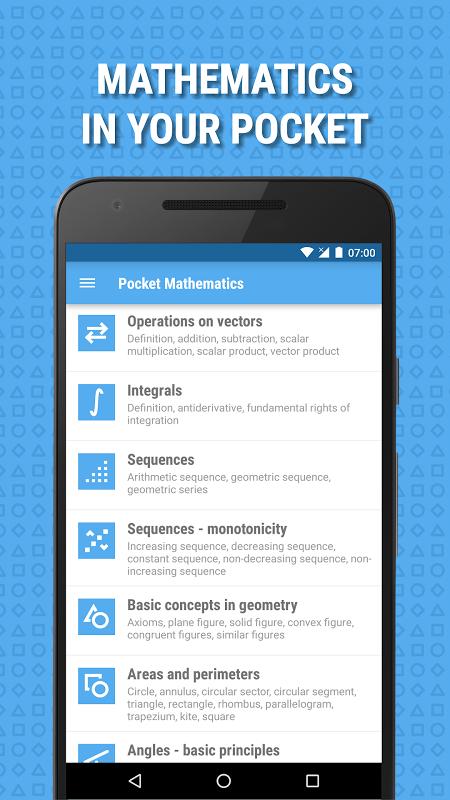 Pocket Mathematics screenshot 1