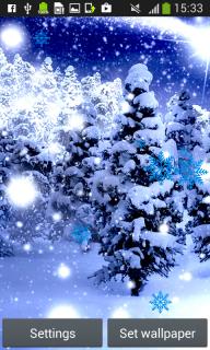 Snowfall Live Wallpapers screenshot 1