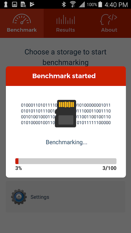 A1 SD Bench screenshot 2