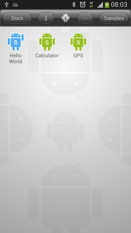 DroidScript - JavaScript Mobile Coding IDE screenshot 1