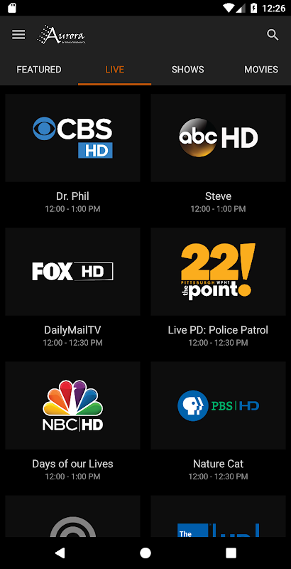 Aurora TV by Hickory Telephone screenshot 2