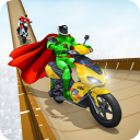 Superhero Scooter GT Stunt Game: Impossible Tracks