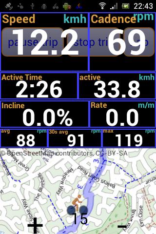IpBike ANT+™ Bike Computer screenshot 1