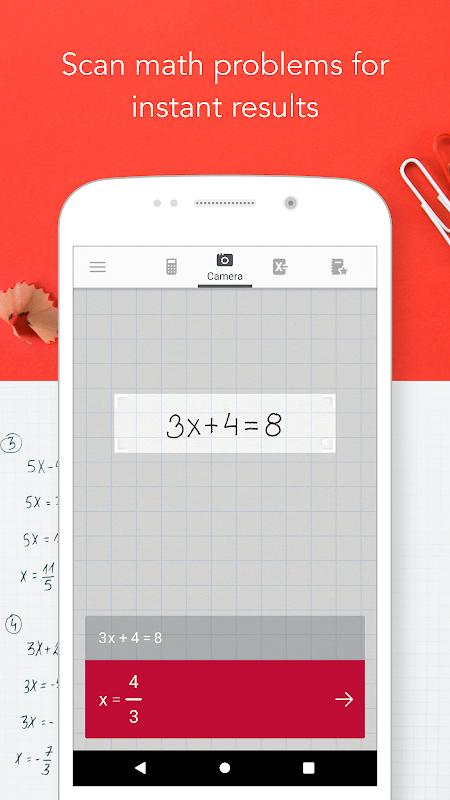 Photomath - Camera Calculator screenshot 1