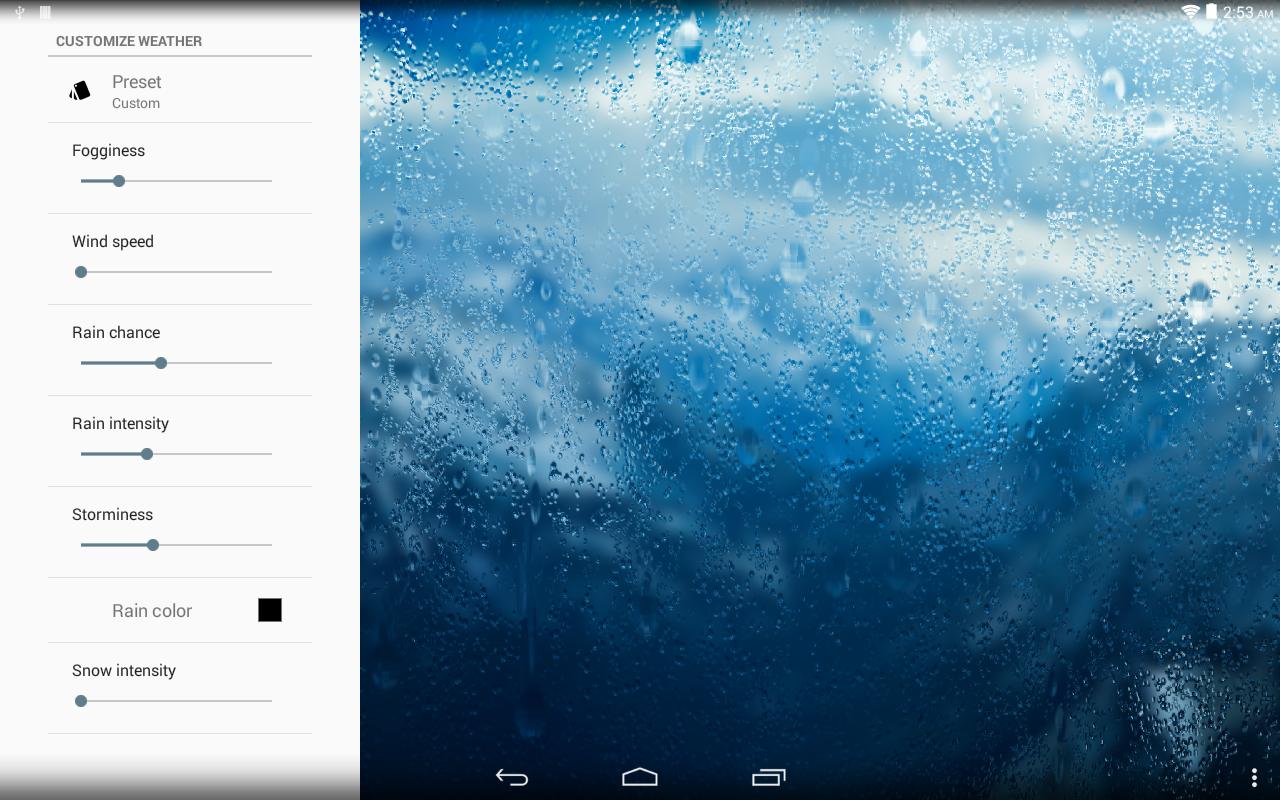 Rainpaper screenshot 2