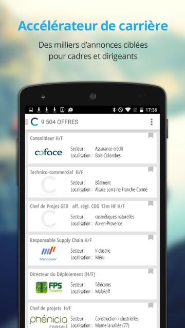 cadremploi offre emploi cadre apk for android aptoide