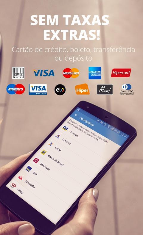 Recarga Celular, Pagar Contas e Bilhete Único screenshot 1