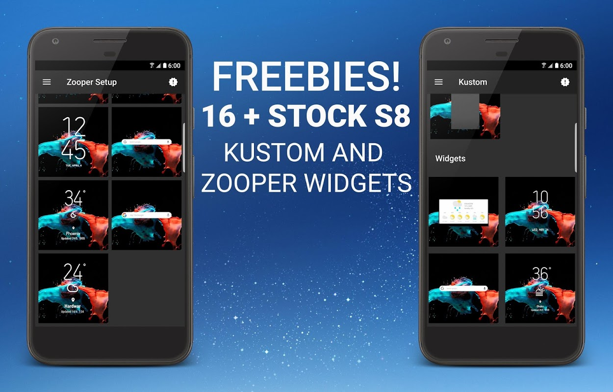 S8 Zooper Widget