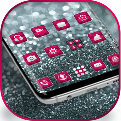 Silver Pink Glitter launcher for Galaxy S8 lovers 1 1 5