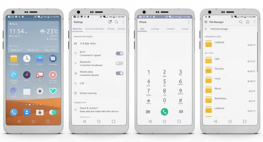 H2OS Theme LG G6 LG V20 G51 3 tải APK dành cho Android - Aptoide
