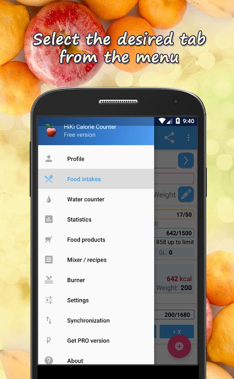 HiKi Calorie Counter screenshot 1