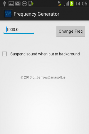 Frequency Generator 1 0 Download APK for Android - Aptoide
