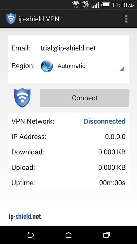 ip-shield VPN screenshot 2
