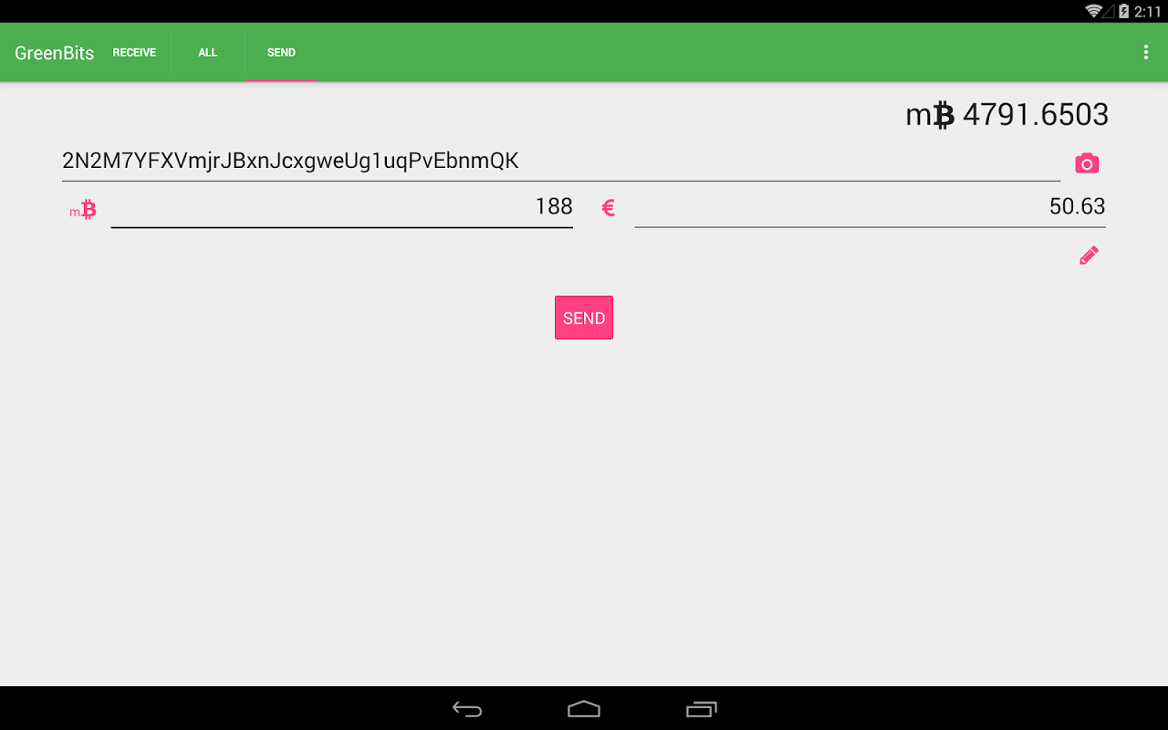 GreenBits Bitcoin Wallet screenshot 4