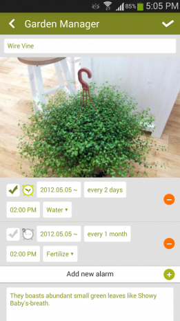 Garden Manager : Plant Alarm 1.7.10 Download APK for Android - Aptoide