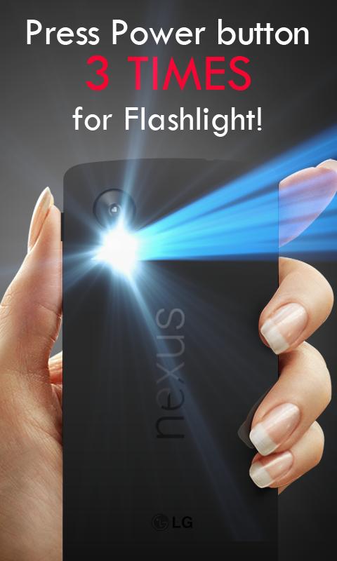 Power Button FlashLight /Torch screenshot 1