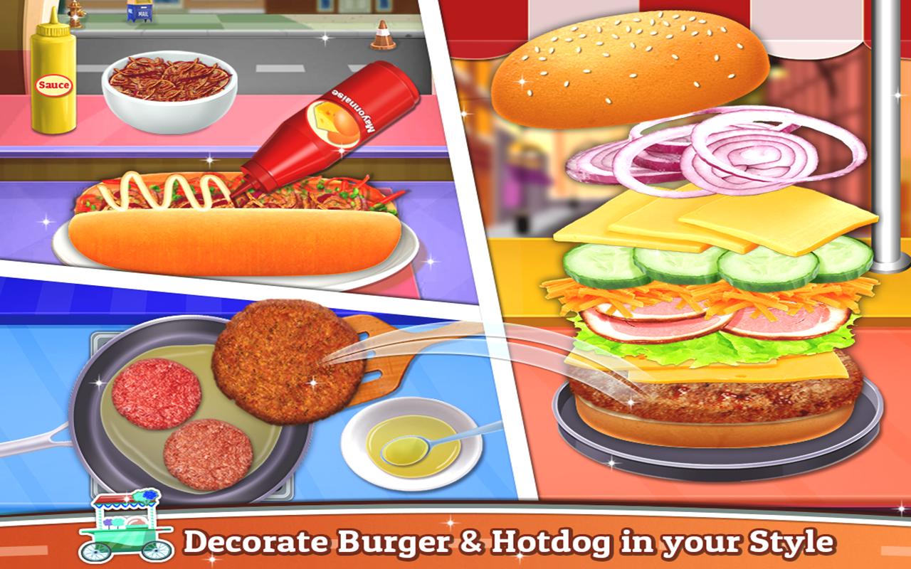 Street Food - Cooking Game : Crazy Kitchen Chef screenshot 2