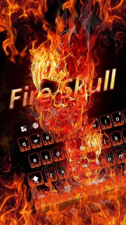 Fire Skull Keyboard Theme 111 Download Apk For Android