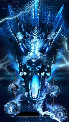 3D blue fire ice dragon Thunder theme 1 0 0 Download APK for
