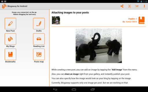 Blogaway for Android (Blogger) screenshot 4
