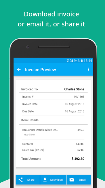 Comzohoinvoicegenerator download apk for android aptoide for Download invoice app