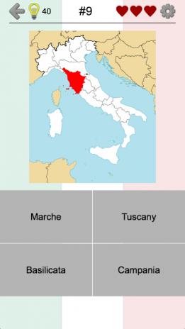 Karte Italien Regionen.Italienische Regionen Karten Und Hauptstädte 2 0 Laden Sie Apk Für