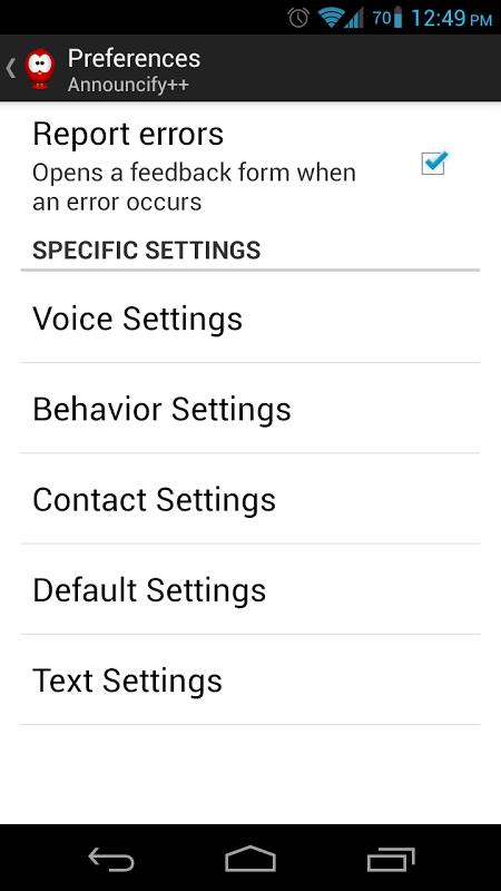 Announcify screenshot 2