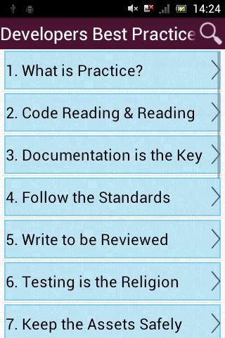 Developers Best Practices screenshot 1