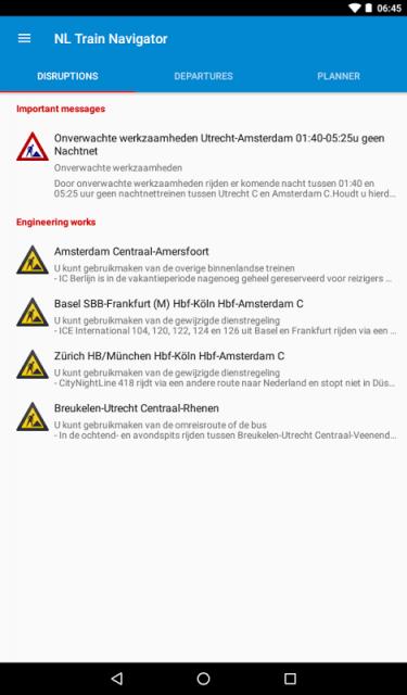 travel information live service disruption