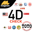 Check 4D Live Results  (Magnum & Toto)