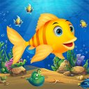 Run Baby Shark Fishing games for kids: Fish Games